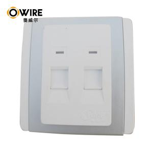 China White ABS RJ45 Faceplate Ethernet Wall Outlet , 1 / 2 Ports Ethernet Cable Accessories on sale