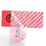 Red Color VOID Security Labels Custom Printing For Transportation / Bank