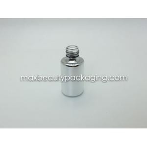 empaquetado favorable al medio ambiente del esmalte de uñas del polvo de la capa del gel de la botella de la plata metalizada del color ultravioleta duro fuerte grueso de la capa