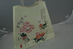 China Trendy Fashion Stamping Recycled Kraft Paper Shopping Bags / Classic Custom Paper Bags For Gift on sale