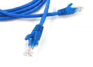 China OFC Bare Copper Network Patch Cord , Ethernet Jumper Cable Pass Fluke Test on sale