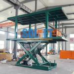 Platform Hydraulic Double Deck Car Parking System , Underground Garage Car Parking Lifter
