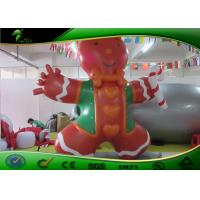 Stronger PVC Inflatable Cartoon Characters 3m Tall Inflatable Shaped Biscuit Man