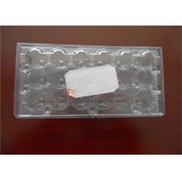 Poultry Equipment PET Custom Made Egg Cartons , Durable Plastic Egg Boxes