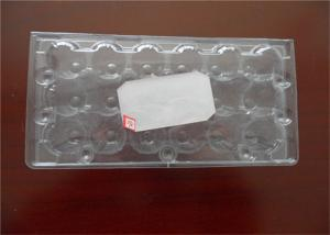 China Poultry Equipment PET Custom Made Egg Cartons , Durable Plastic Egg Boxes on sale