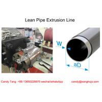 China PP PE ABS Plastic Tube Extruder for Coated Lean Pipe For Rack System on sale