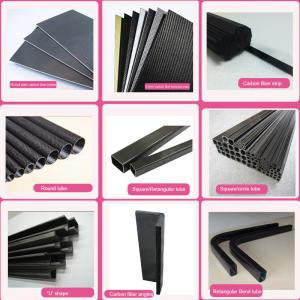 China 3k plain twill pultruded uni-direction Carbon Fiber tube, pipe, CFP tube for frames, trusses, and reinforcing material on sale