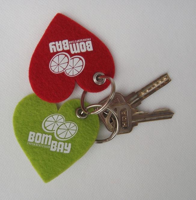 felt heart shaped key tag for sale