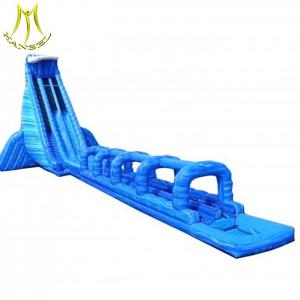 China Hansel long water slide kids playing area indoor inflatable slide 2018 on sale
