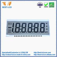 China 12 o'clock 3.0V Transflective 5.5 Digits 7 Segments LCD Display For Physician/Weighing /Industrial Electronic Scale on sale