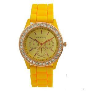 China Geneva Brand Fashion Quartz Silicone Watch on sale
