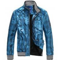 China OEM high quality fashion hip hop utility polyester high rib collar shiny satin jackets wholesale on sale