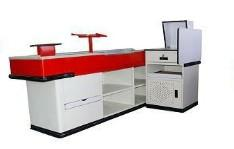 China Customized convenience store, retail, supermarket checkout counter metal (cash table) on sale