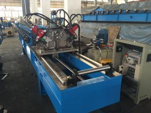 China Chain Drive Ceiling Roll Froming Machine  With Punching / Track Cutting System on sale
