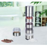 China 5 in 1 stainless steel pepper grinder on sale