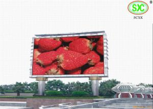 China High Definition Giant Outdoor Led Billboards For Exhibition / Sporting Events 6500K - 9500K on sale