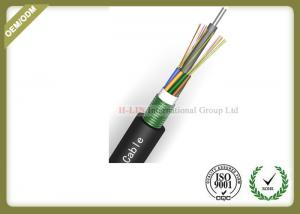 China 24~144 Core Fiber Optic Outdoor Cable With Armoured Metallic Strength Member on sale