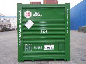 China 53' Foot Standard ISO Container Red Green Blue with Plywood Bamboo Floor on sale