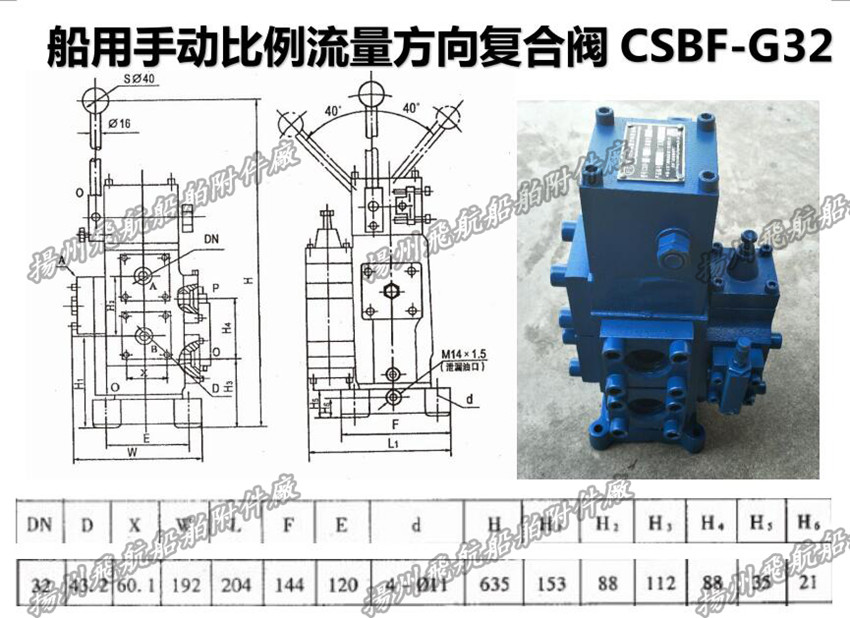 Marine manual proportional flow directional compound valve ... on