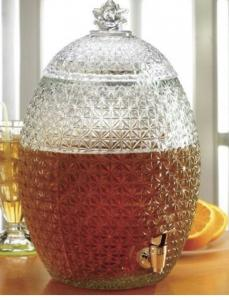China Large Pineapple Glass Kitchen Containers With Lids / Transparent Beer Glass Juice Jars on sale