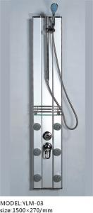 China Competitive Aluminum Alloy Shower Panel with Sliding Handle Shower on sale