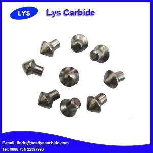 China Cemented carbide buttons F types sharp claw button,J & JC types auger tips button, Point attack bits on sale