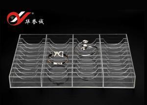 China Tamaño claro de acrílico del color del soporte de exhibición de la joyería de la exposición de 40 brazaletes modificado para requisitos particulares on sale
