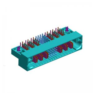 China Power and signal hybrid board to board connectors right angel male  A Type DIP With forks ROHS on sale