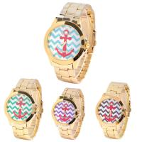 Anchor Dial Women Quartz Wrist Watch Platinum Geneva Gold Watch