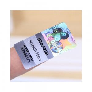 China Matte Lamination Tamper Evident Security Labels , Transparent Holographic Stickers on sale