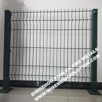 PVC Coated Cheap Curved Sheet Metal Wire Mesh Fencing for Residential