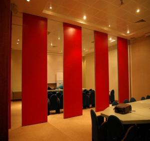 China Panel Thickness 65 mm Aluminium Sliding Track Movable  Door Rollers Banquet Hall Acoustic Partition Wall on sale
