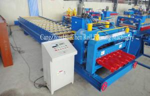 China High Speed Steel Glazed Roll Forming Equipment With Hydraulic Press And Cut System on sale