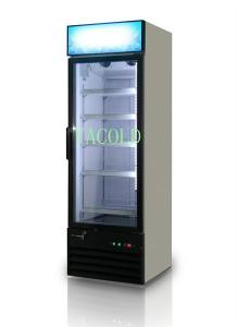 China glass door display refrigerator/beverage cooler/upright chiller on sale