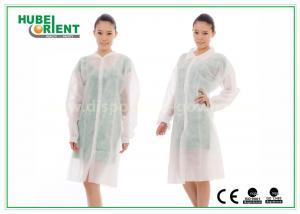China Dental Medical Tyvek Disposable Lab Coats / Plus Size Lab Coats Breathable For Body on sale