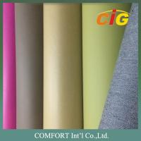 140 Cm Width Popular Colorful PU Synthetic Leather for Sofa , Classic Design