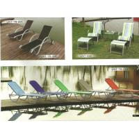 Colorful Stackable Patio Furniture Lounge Chair , Aluminum Chaise Lounge Pool Chairs