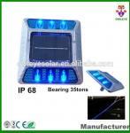 Hot sale IP68 aluminum solar road marker,solar flashing road cat eye ,aluminum solar road stud various color