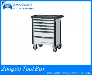 China Customized Tool Box Roller Cabinet 6 Drawer Tool Chest With Top Tray Pe Bump on sale
