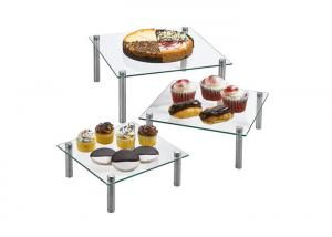 China 8 10 13 Inch Square Acrylic Cupcake Stand For Cake Desserts Bakery Appetizers on sale