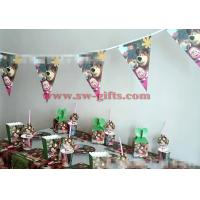 Masha and bear Disposable Tableware sets Boy Birthday Party Decoration Table Cloth cups Paper plate Napkin Flag