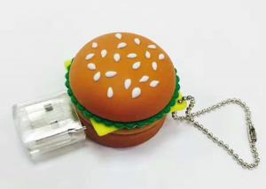 China Simulating Hamberger Soft PVC Custom USB Flash Drives, 8GB-64GB Promotional Gift USB on sale