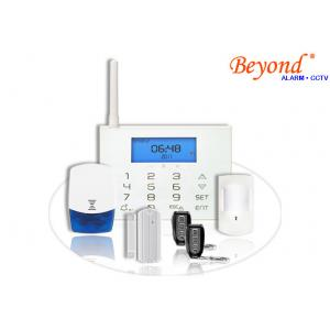 China LCD Icons Touch Keypad Wireless GSM SMS Burglar Alarm System with Wireless Flash Siren on sale