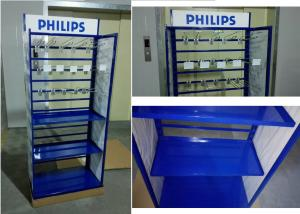 Quality Metal Tube Frame Branded Display Stands With Customized Graphic Sign Versatility for sale