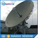 7.3m big c/ku band parabolic satellite antenna for communication