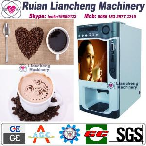 China coffee grinding machin 220V 50 / 60HZ machin Bimetallicraw material 3/1 microcomputer Automatic Drip coin operated on sale