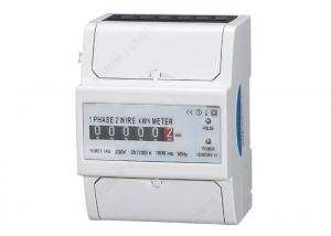 China 4 Module Electricity Single Phase Energy Meter , Analog Display kwh Meter on sale