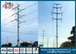 Corrosión anti para uso general eléctrica de acero poligonal del HDG postes del circuito multi