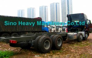 Quality SINOTRUK HOWO 8x4 Heavy Cargo Trucks / Diesel Box Stake Truck , STRONGEST for sale