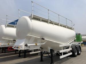 China high quality v type carbon steel white 40ton cement bulker/bulk cement tanker/dry powder tanker for sale on sale